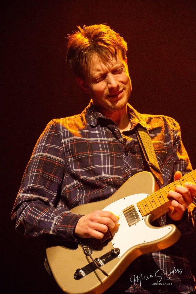 Jurgen tijdens het jazzrock/fusionfestival in Alphen aan den Rijn