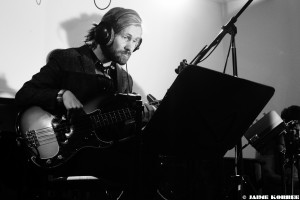 Jurgen Burdorf - Straight Up Guitar album recording 2016. Photo by Jaime Korbee