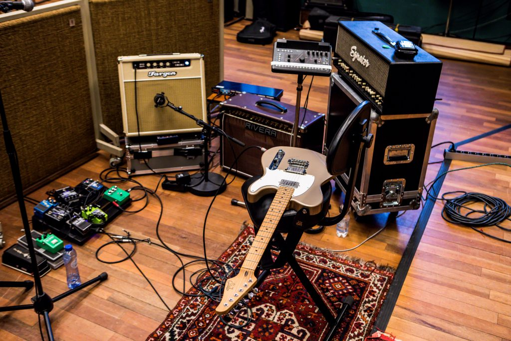 Jurgens setup during the recordings of his third album, Picking Up Steam, 2018
