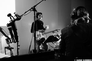 Jurgen Burdorf - Straight Up Guitar album recording 2016. Photo by Jaime Korbee